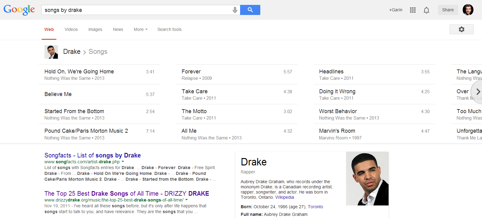 Google-a-list-of-songs-by-an-artist