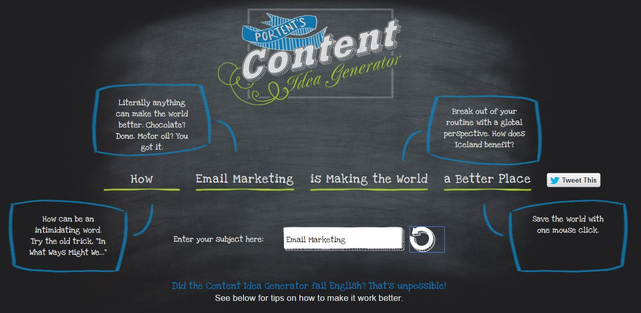 28 excellent ways to improve your email marketing for Portent sentence